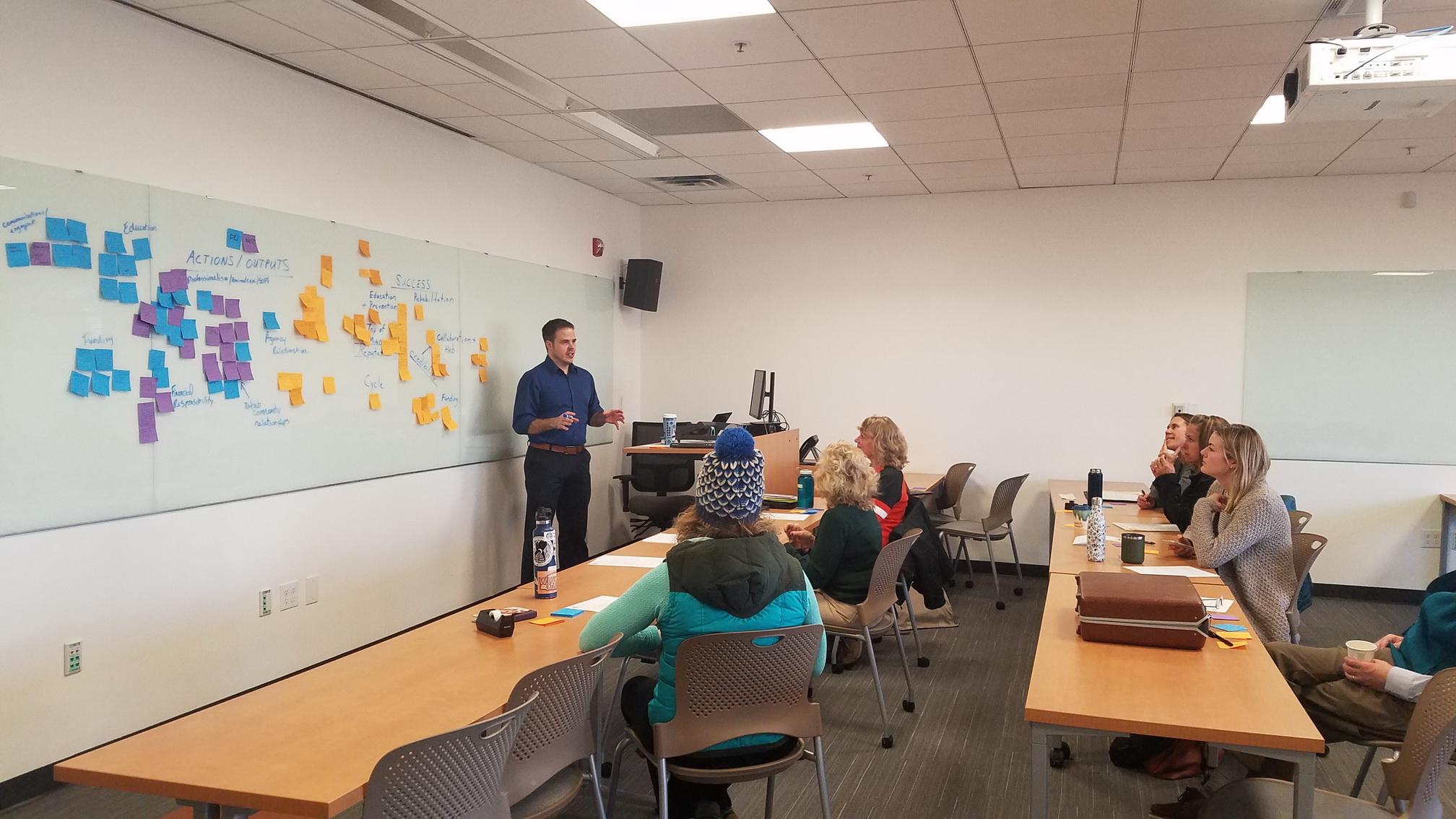Adam Krynicki hosts a design sprint to help a new venture define its service offering