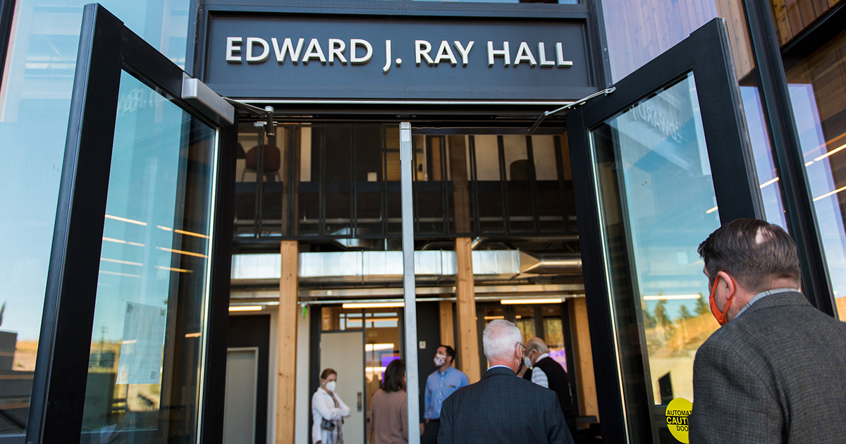 Welcome to Edward J. Ray Hall.