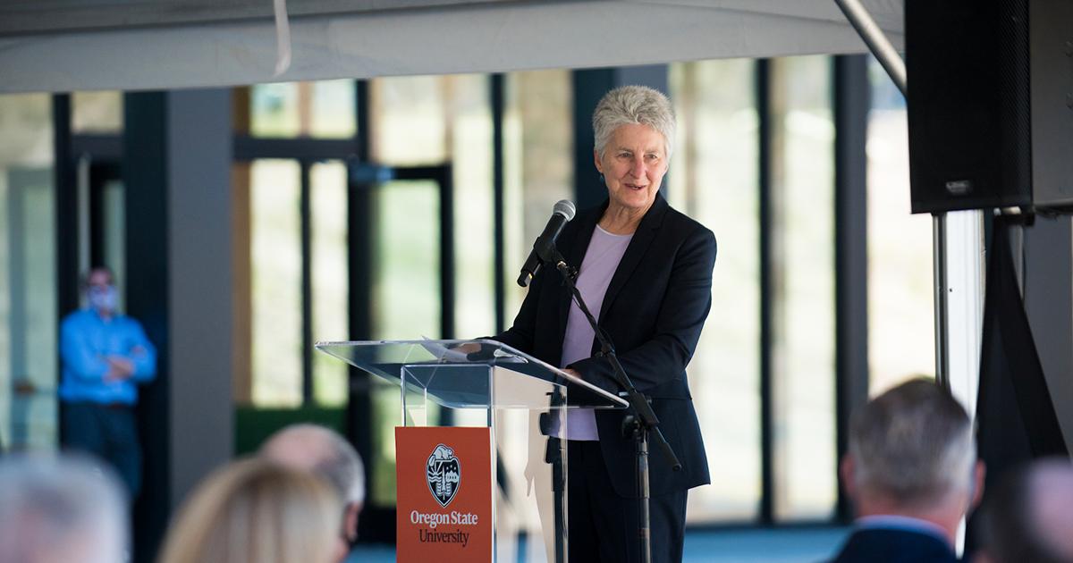 OSU Interim President Becky Johnson.