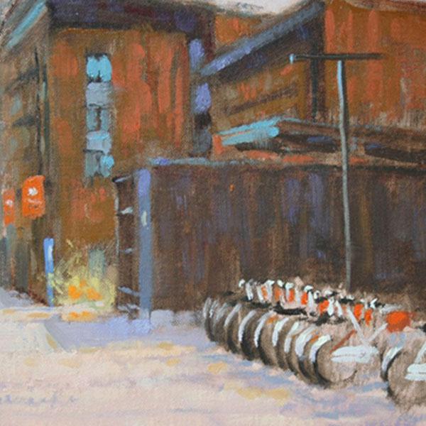 """Campus Bikes"" By Barbara Jaenicke"