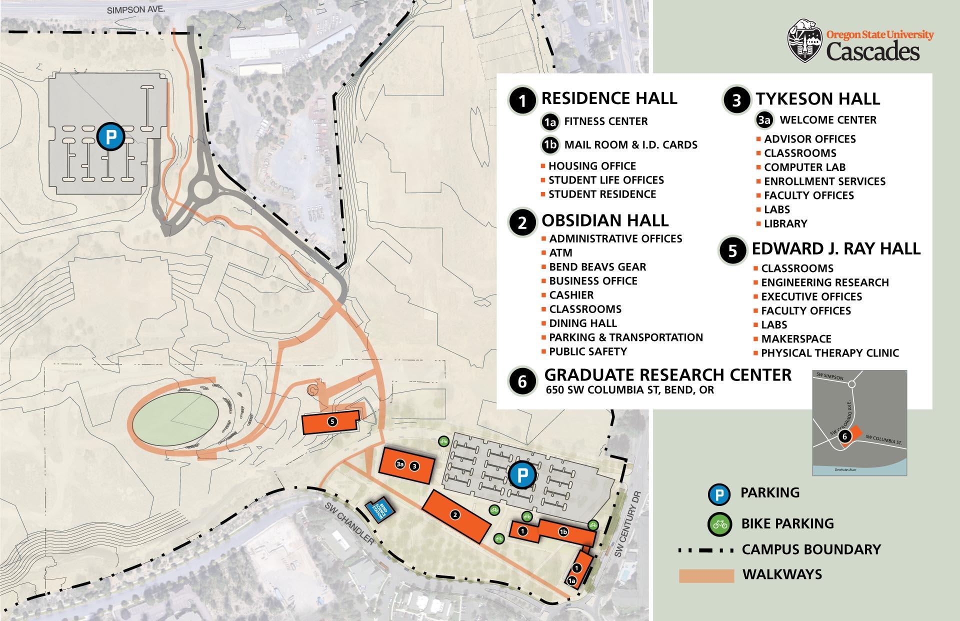 OSU-Cascades Campus Map