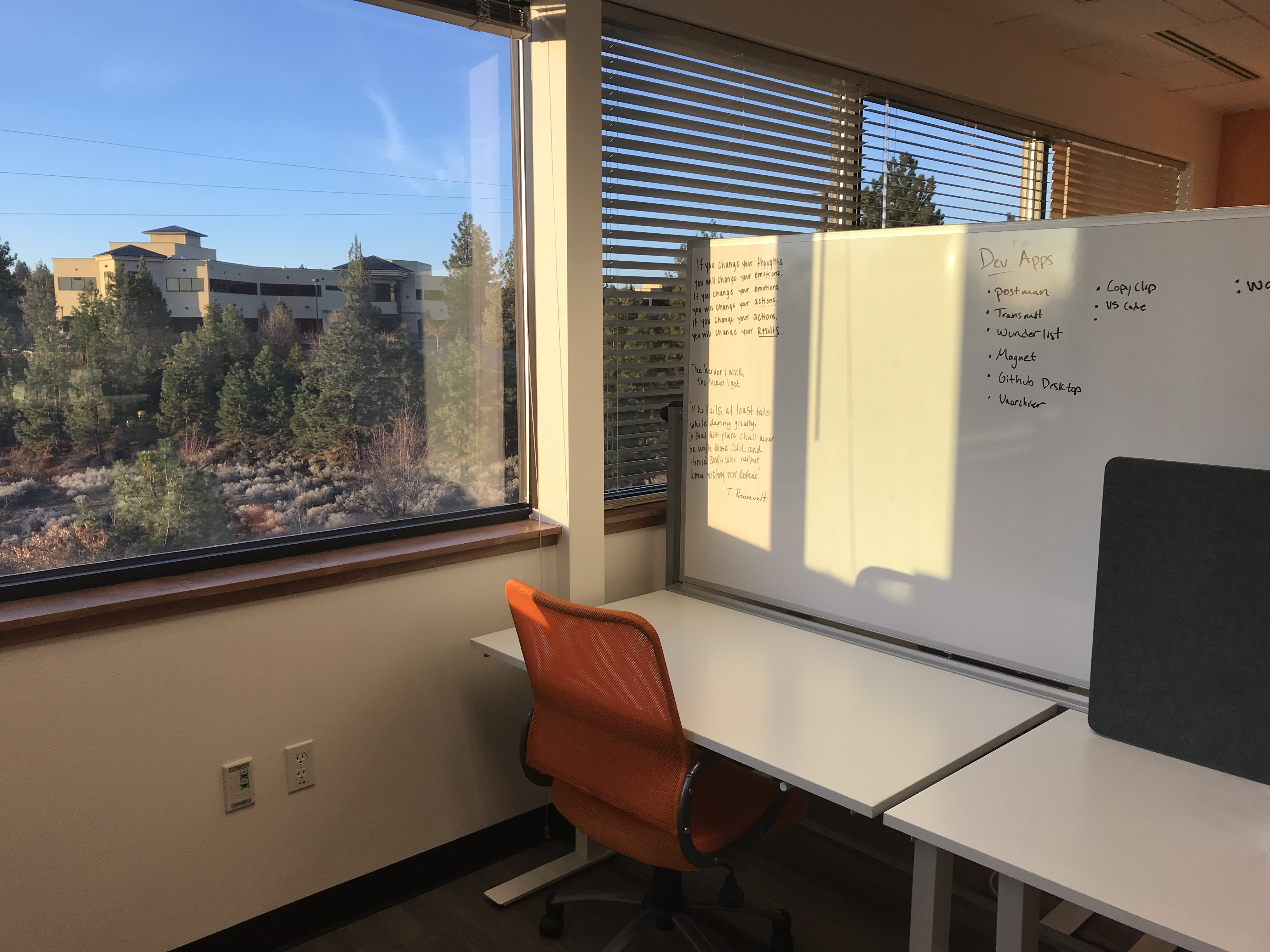 Dedicated Desk and View at the Co-Lab