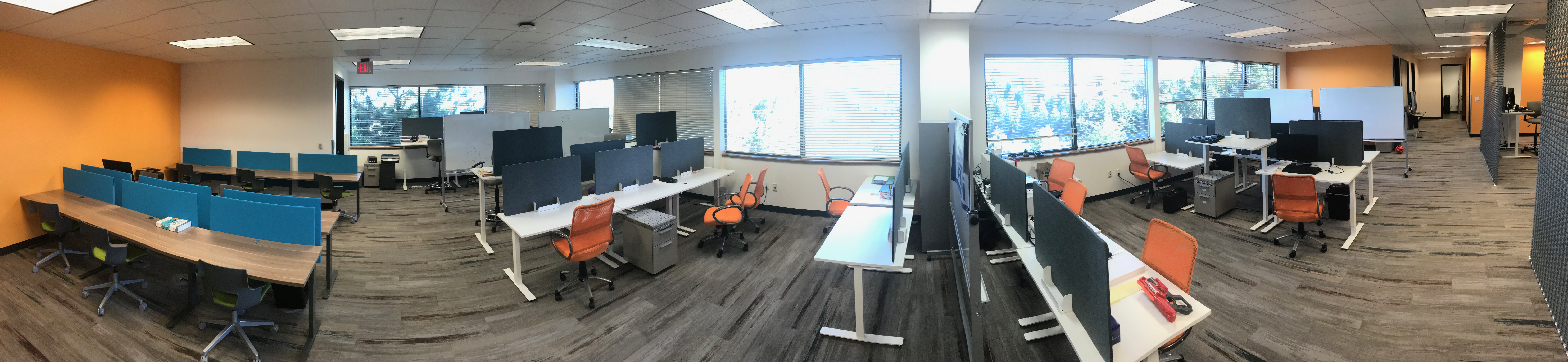 The Co-Lab's co-working space has a variety of flex and dedicated desks.