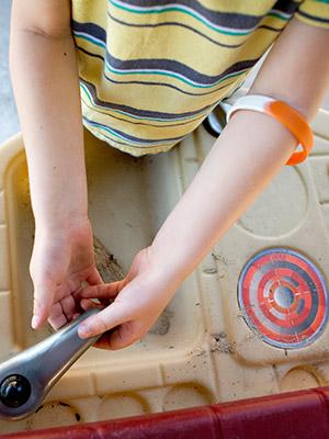 bracelet on child's hand
