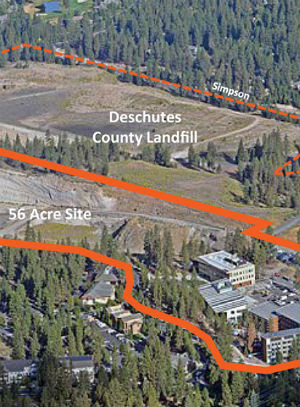 aerial photo of expanded OSU-Cascades campus