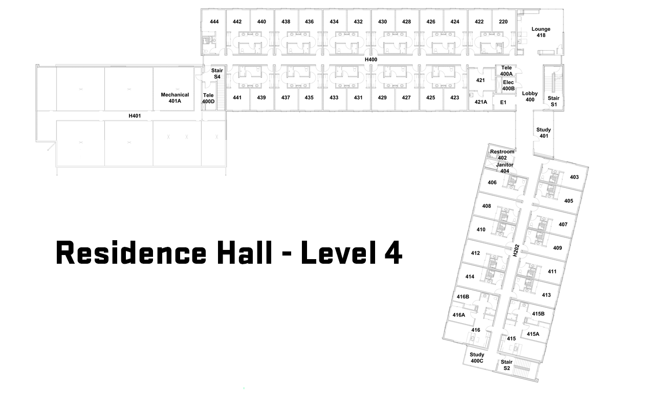 Fourth Floor Floorplan
